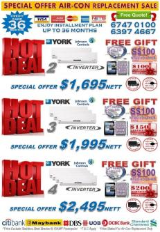 *YEAR END CRAZY SALE 2016* BRANDED INVERTER AIR-CON PROMOTION - Image 1
